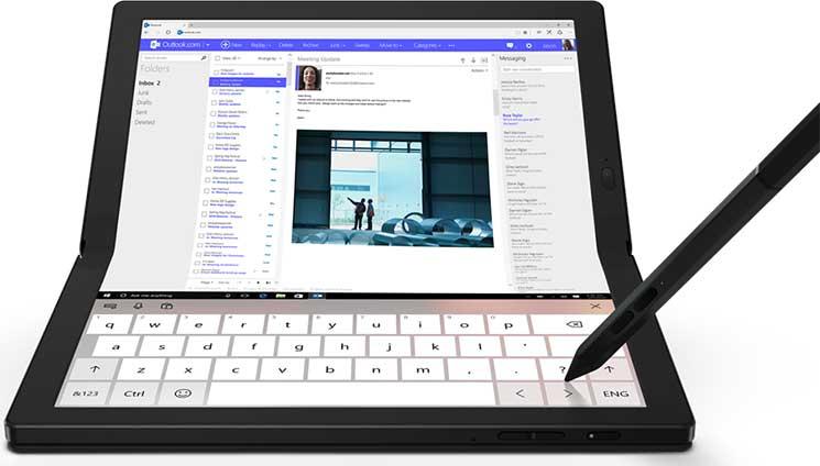 """ThinkPad X1 Fold 13"""" erstes Gerät mit Faltbaren Bildschirm"""