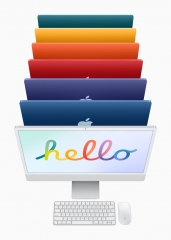 Apple iMac 24 Retina 4,5K 2021 M1/ Silber